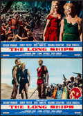 "Movie Posters:Adventure, The Long Ships (Columbia, 1963). Italian Photobustas (2) (18.5"" X26.25""). Adventure.. ... (Total: 2 Items)"
