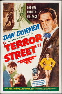 "Terror Street & Other Lot (Lippert, 1953). One Sheets (2) (27"" X 41""). Film Noir. ... (Total: 2 Items)"
