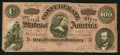 Confederate Notes:1864 Issues, Darker Red Tint T65 $100 1864.. ...