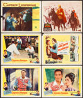 "Movie Posters:Adventure, Crossed Swords & Others Lot (United Artists, 1954). Lobby Cards(10), Title Lobby Card (11"" X 14"") & Three Sheet (41"" X 79"")...(Total: 12 Items)"