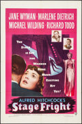 """Movie Posters:Hitchcock, Stage Fright (Warner Brothers, 1950). One Sheet (27"""" X 41"""").Hitchcock.. ..."""