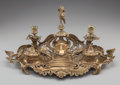 Decorative Arts, French, A LOUIS XV-STYLE BRASS ENCRIER, circa 1900. 9 x 20-5/8 x 12 inches(22.9 x 52.4 x 30.5 cm). ...