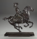 Sculpture, After Jean Louis Ernest Meissonier (French, 1815-1891). General Duroc at the Battle of Castiglione, 1893. Bronze with br...