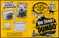 """Movie Posters:Animation, Dumbo & Other Lot (Buena Vista, R-1950s). Uncut Pressbooks (2)(6 Pages/12 Pages, 10.5"""" X 13.75""""/11"""" X 15""""). Animation.. ...(Total: 2 Items)"""