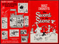 "Movie Posters:Animation, The Sword in the Stone (Buena Vista, 1963). Uncut Pressbooks (2)(44 Pages, 12"" X 18""). Animation.. ... (Total: 2 Items)"