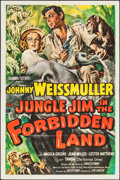 "Movie Posters:Adventure, Jungle Jim in the Forbidden Land (Columbia, 1951). One Sheet (27"" X41""). Adventure.. ..."