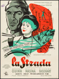 """Movie Posters:Foreign, La Strada (Teatrenes Film-Kantor, 1956). Danish Poster (24.75"""" X 33.25""""). Foreign.. ..."""