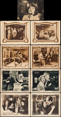 "Too Wise Wives & Others Lot (Paramount, 1921). Lobby Cards (8) (11"" X 14"") & Trimmed Lobby Car..."