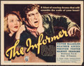 "Movie Posters:Drama, The Informer (RKO, 1935). Title Lobby Card (11"" X 14""). Drama.. ..."