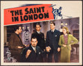 "Movie Posters:Mystery, The Saint in London (RKO, 1939). Lobby Card (11"" X 14""). Mystery....."