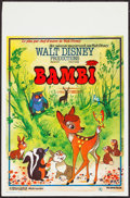 "Movie Posters:Animation, Bambi (Elan Film, R-1970s). Belgian (14"" X 21.25""). Animation.. ..."