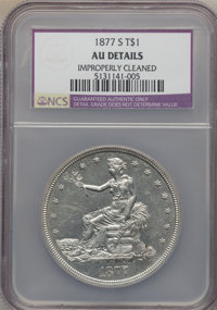 1877-S T$1 -- Improperly Cleaned -- NCS. AU Details. NGC Census: (41/1116). PCGS Population (136/1425). Mintage: 9,519,0...