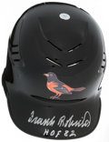 Baseball Collectibles:Hats, Frank Robinson Signed Baltimore Orioles Helmet. ...