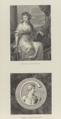 Furniture, JEAN BAPTISTE JOSEPH WICAR (French, 1762-1834). Set of Artist Portraits and Antique Stone Engravings from Tableaux, st... (Total: 6 Items)