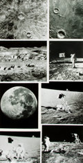 Books:Prints & Leaves, [Moon/Moon Landing]. Archive of Approximately Thirty-FourPhotographs Relating to the Moon and/or Moon Landing. Eachmeasuri...