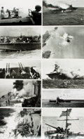 Books:Prints & Leaves, [World War II/U.S. Naval Combat]. Archive of ApproximatelyNinety-Seven Photographs Relating to U.S. Naval Combat DuringWorld...