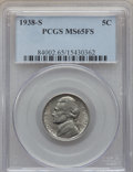 1938-S 5C MS65 Full Steps PCGS. PCGS Population: (103/99). NGC Census: (0/0). CDN: $100 Whsle. Bid for problem-free NGC/...