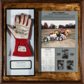 Miscellaneous Collectibles:General, 1995 Tony Stewart Race Worn Glove Display....