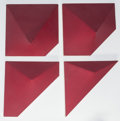 Post-War & Contemporary:Minimalismk, RICHARD SMITH (British, b. 1931). Red Envelopes, 1968.Acrylic on shaped canvas, in four parts. 18-1/2 x 18-1/4 inches(... (Total: 4 Items)
