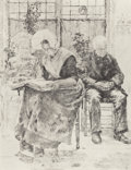 Fine Art - Painting, European:Antique  (Pre 1900), Walter MacEwen (American, 1860-1943). L'Absente, circa 1889.Etching and drypoint. 11 x 8-1/2 inches (27.9 x 21.6 cm) (p...