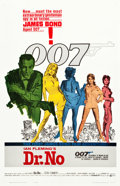 """Movie Posters:James Bond, Dr. No (United Artists, 1962). One Sheet (27"""" X 41.25"""") YellowSmoke Style.. ..."""