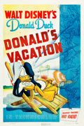 "Movie Posters:Animated, Donald's Vacation (RKO, 1940). One Sheet (27"" X 41"").. ..."