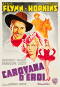 "Movie Posters:Western, Virginia City (Warner Brothers, 1940). Italian Foglio (27.25"" X39.5"").. ..."