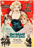 "Movie Posters:Comedy, Some Like It Hot (CB Films/United Artists, 1963). Spanish One Sheet (27.5"" X 39"").. ..."