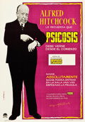 "Movie Posters:Hitchcock, Psycho (Paramount, 1961). Spanish One Sheet (28"" X 39.5"") Style B....."