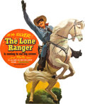 "Movie Posters:Western, The Lone Ranger (Warner Brothers, 1956). Standee (30"" X 57""). ..."