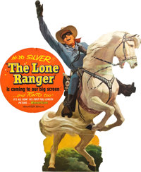 """The Lone Ranger (Warner Brothers, 1956). Standee (30"""" X 57"""")"""