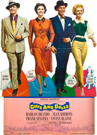 """Guys and Dolls (MGM, 1955). Standee (93"""" X 60""""). ... (Total: 5 Items)"""