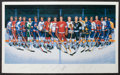 Hockey Collectibles:Others, 500 Goal Scorers Signed Ron Lewis Lithograph....