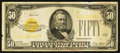 Small Size:Gold Certificates, Fr. 2404 $50 1928 Gold Certificate. Very Fine.. ...