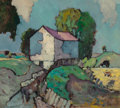 Fine Art - Painting, American:Modern  (1900 1949)  , OSCAR DANIEL SOELLNER (American, 1890-1952). Country Barn.Oil on canvas. 18 x 20 inches (45.7 x 50.8 cm). Artist's esta...
