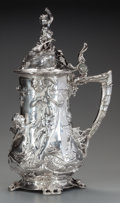 Silver Holloware, Continental:Holloware, A CONTINENTAL SILVER-PLATED FIGURAL TANKARD, circa 1900. 17-1/2inches high (44.5 cm). FROM THE ESTATE OF RICHARD WRIGHT. ...