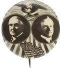 Political:Pinback Buttons (1896-present), Harding & Coolidge: Extremely Rare and Important 1¼-inchJugate....
