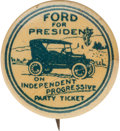 """Political:Pinback Buttons (1896-present), Henry Ford: Terrific """"For President"""" 7/8-inch Button Depicting a Model T...."""