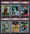 Baseball Cards:Lots, 1978 - 1986 Baseball Stars & HoFers PSA Mint 9 Collection(38)....