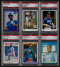Baseball Cards:Lots, 1987 - 1994 Baseball Stars & HoFers PSA Mint 9 Collection(34)....
