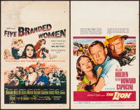"Five Branded Women & Others Lot (Paramount, 1960). Window Cards (10) (14"" X 22""). War. ... (Total: 10..."
