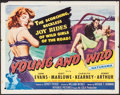 "Movie Posters:Bad Girl, Young and Wild (Republic, 1958). Half Sheet (22"" X 28"") Style A.Bad Girl.. ..."