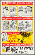 "Movie Posters:Adventure, Around the World in 80 Days (Michael Todd Co., R-1958). Window Card(14"" X 22""). Adventure.. ..."