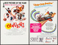 "Movie Posters:Academy Award Winners, Oliver! & Other Lot (Columbia, 1968). Window Cards (2) (14"" X22"") Academy Awards Style. Musical.. ... (Total: 2 Items)"