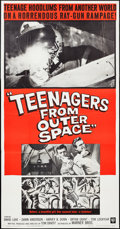 "Movie Posters:Science Fiction, Teenagers from Outer Space (Warner Brothers, 1959). Three Sheet(41"" X 79""). Science Fiction.. ..."