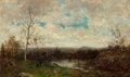 Fine Art - Painting, American:Antique  (Pre 1900), Robert Ward van Boskerck (American, 1855-1932). Landscape withStream. Oil on canvas. 12-1/4 x 20 inches (31.1 x 50.8 cm...