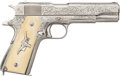 Handguns:Semiautomatic Pistol, Important DW Harris Signed and Engraved Remington Rand 1911 A1 Semi-Automatic Pistol....