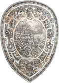 Militaria:Armor, Silver Plated Copy of Henry II of France Shield, Battle of Cannes....