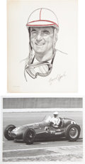 Miscellaneous Collectibles:General, 1950's Indianapolis 500 Photographs & Drawings Lot of 75+....