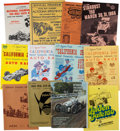 Miscellaneous Collectibles:General, 1930's-60's Automobile Racing Programs Lot of 65....